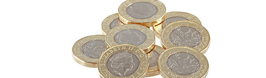 Pound coins illustrating the affordability of a vanpost account!